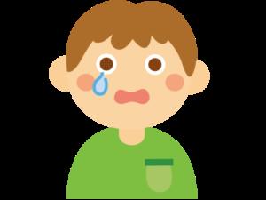涙目の男の子のイラスト画像
