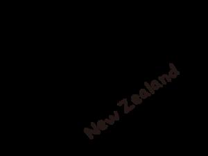 ニュージーランドのシルエットイラスト画像
