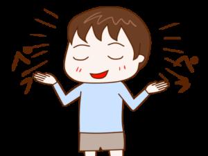 ペラペラしゃべる男の子のイラスト画像