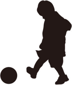 サッカーのシルエットイラスト画像