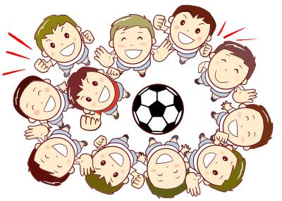 サッカーのイラスト画像