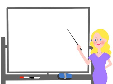 英語を教える外国人先生のイラスト画像