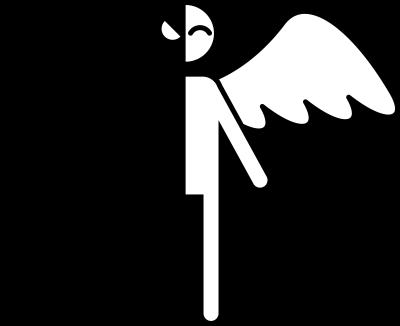 天使と悪魔のイラスト画像