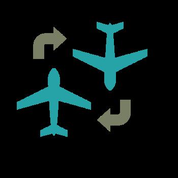 飛行機の乗り換えイメージ画像