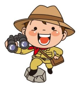 冒険少年のイラスト画像
