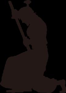 武士のシルエット画像