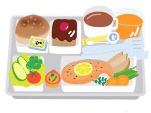 機内食のイラスト画像