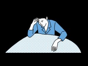 寝起きが悪い男性のイラスト画像