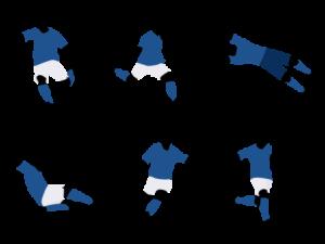 サッカーのプレーイラスト画像