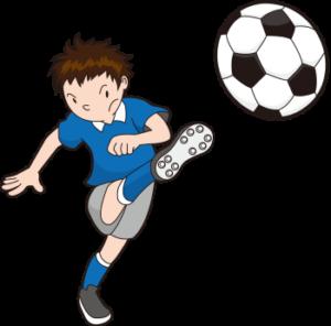 サッカー少年のイラスト画像