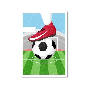 サッカーポスターのイラスト画像
