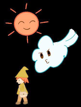 北風と太陽のイメージ画像