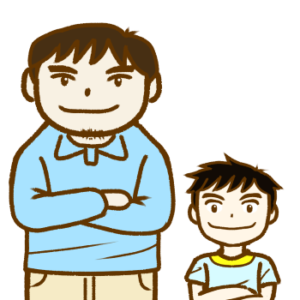 大人と子どものイラスト画像