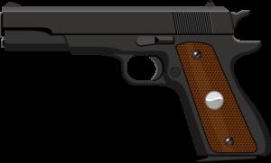 拳銃のイラスト画像