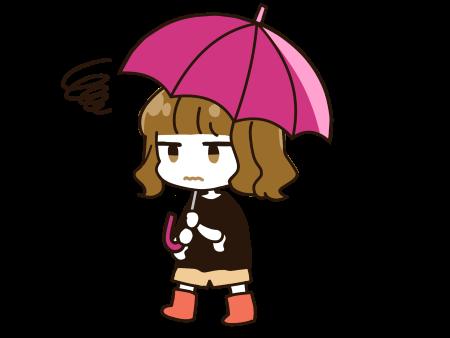 雨が嫌いな子のイラスト画像