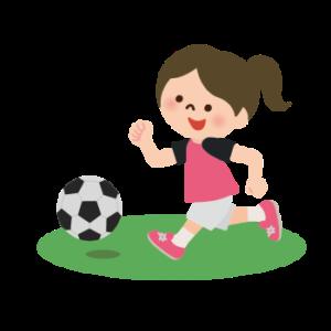 女子サッカーのイラスト画像