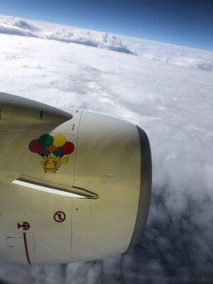 ピカチュウジェット飛行中の写真