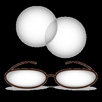 メガネとコンタクトレンズのイラスト画像
