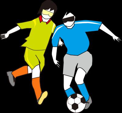 ブラインドサッカーのイラスト画像